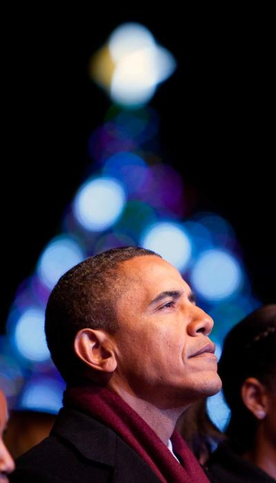 Obama Christmas Tree 2011