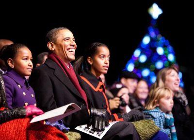 Obama, Christmas Tree 2011