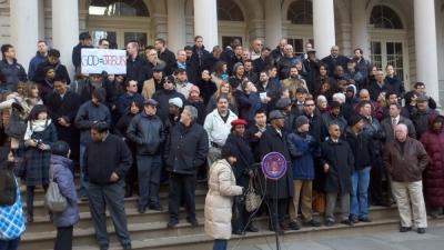 NYC Rally Crowd
