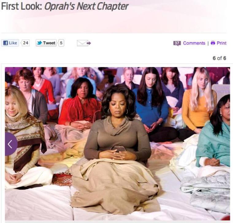 Oprah Winfrey in TM Town, Iowa - STORY SPECIFIC PHOTO DO NOT USE