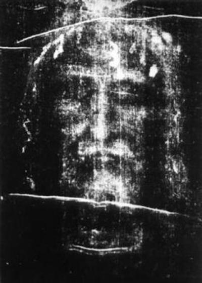 Shroud of Turin Imprint Reveaing Face of Jesus