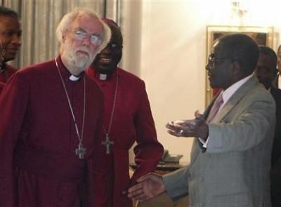 Mugabe with Anglicans, ZImbabwe