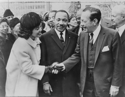Coretta Scott King and Martin Luther King and Robert F. Wagner