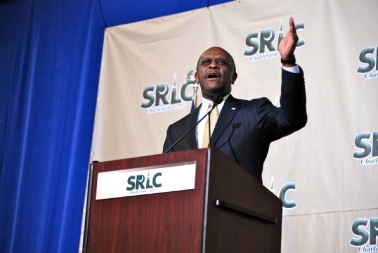 Herman Cain speaks at SRLC in Charleston, SC