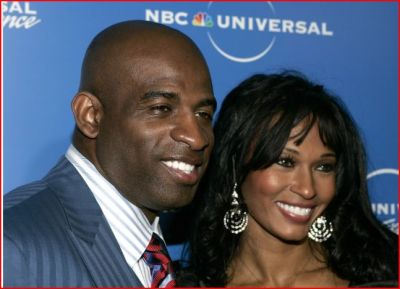 Deion Sanders and his wife Pilar