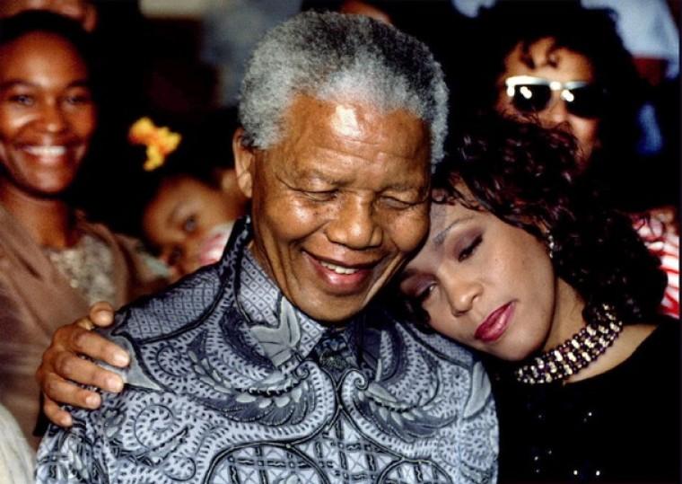 Whitney Houston Nelson Mandela