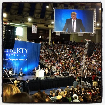 Real estate mogul Donald Trump at Liberty University