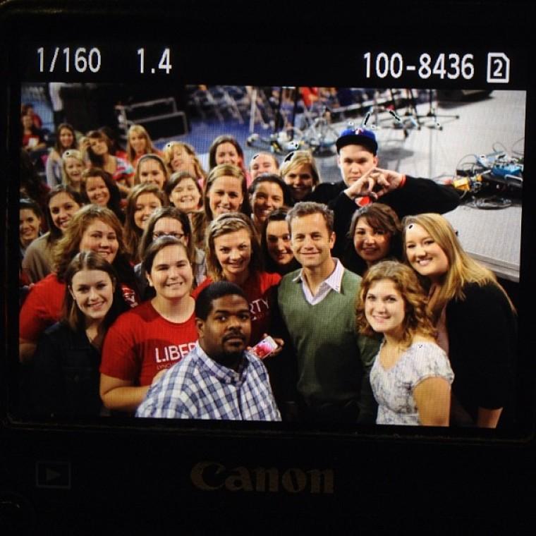 Kirk Cameron with Liberty University students