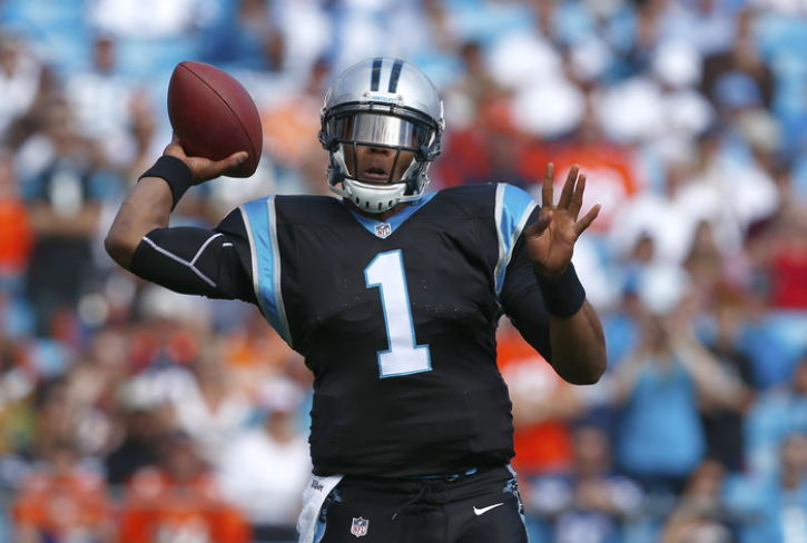 299dbcbae Carolina Panthers quarterback Cam Newton (1) throws a pass against the  Denver Broncos during an NFL football game in Charlotte