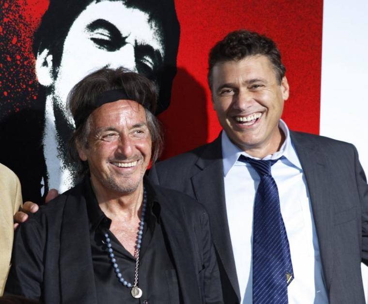 Actors Al Pacino (L) and Steven Bauer