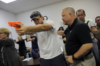 A concealed weapons permit class in Sarasota, Fla.