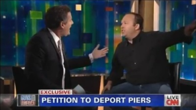 Alex Jones and Piers Morgan