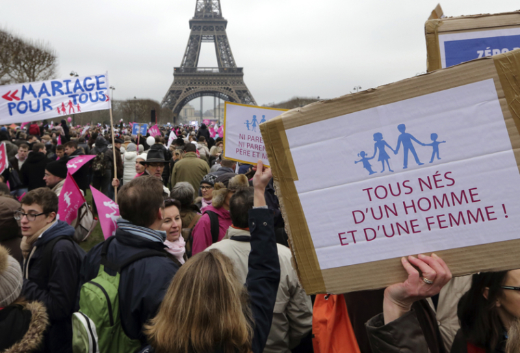 Same Sex Marriage Protest France