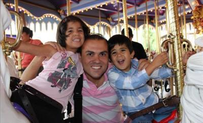 Pastor Saeed Abedini and his children