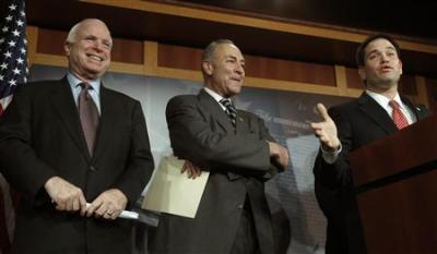 John McCain, Chuck Schumer, Marco Rubio