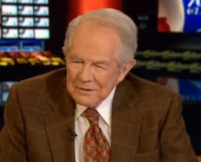 Televangelist Pat Robertson on Christian Broadcasting Network's