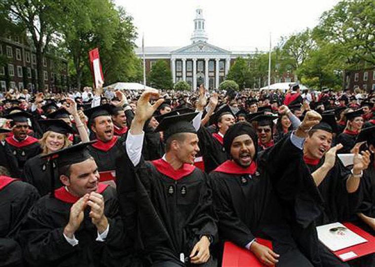 Harvard Business School students at graduation