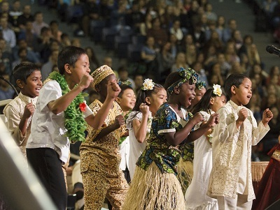 Children of the World perform at Liberty University for its Global Focus Week