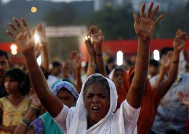 Indian Christian Woman Praying