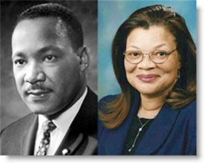 Dr. Martin Luther King, Jr. and Dr. Alveda King