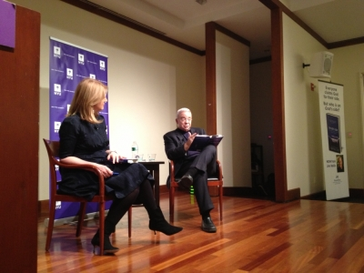 Arianna Huffington and Jim Wallis