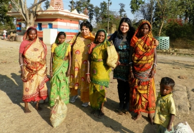 Ruth & Veena Malhotra with Indian women