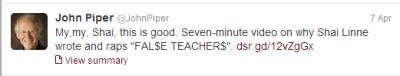 John Piper Tweet