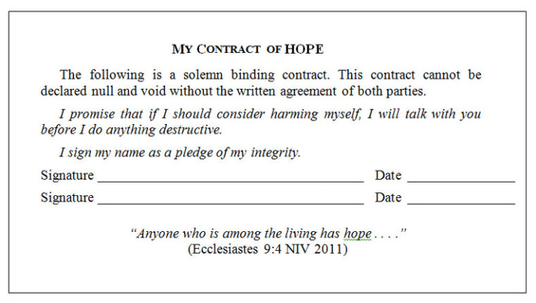my contract of hope
