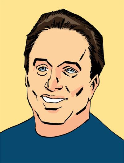 Dan Dalzell Portrait Yellow Background
