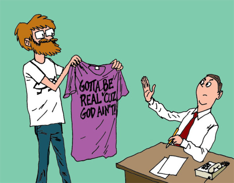 """""""No Deal!"""" To This Atheist T-Shirt"""