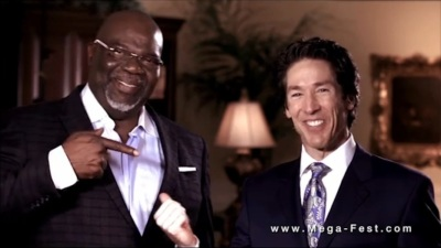 T.D. Jakes (R) and Joel Osteen (L)