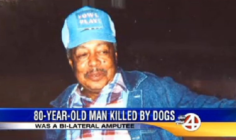 Amputee killed by dogs