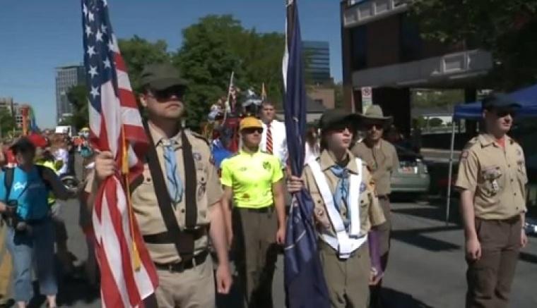 Boy Scouts at Utah Pride Parade in Salt Lake City, Utah