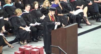Valedictorian Roy Costner of Liberty High School in Pickens County, South Carolina