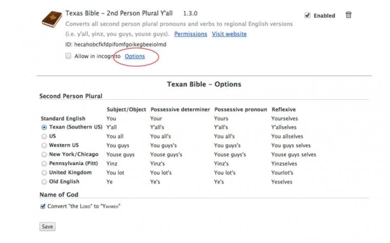 John Dyer's Texas Bible Plugin
