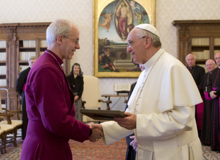 Pope Francis Archbishop of Canterbury Justin Welby