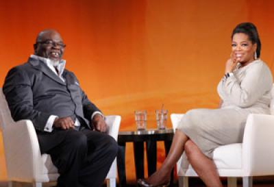 Bishop TD Jakes and Oprah Winfrey
