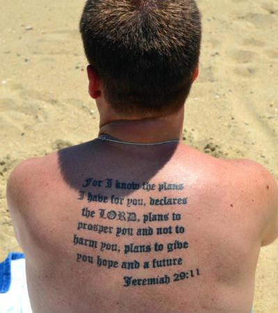Jeremiah 29:11 tattoo