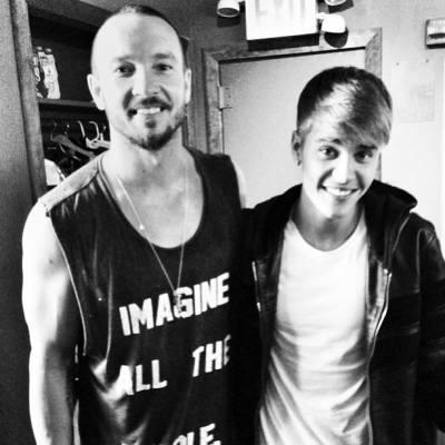 Pastor Carl Lentz and Justin Bieber