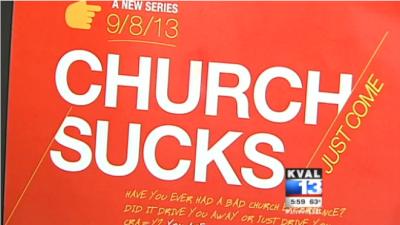 Church Sucks Flyer