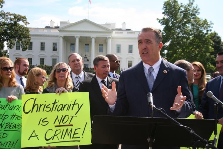 Trent Franks White House Abedini Vigil