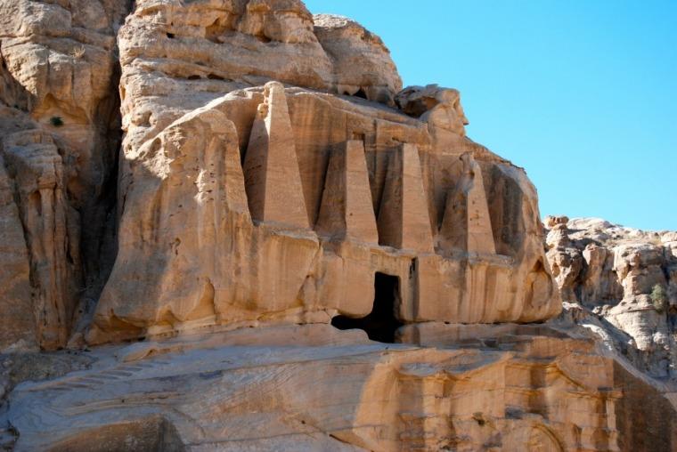 Caves in Petra, Jordan