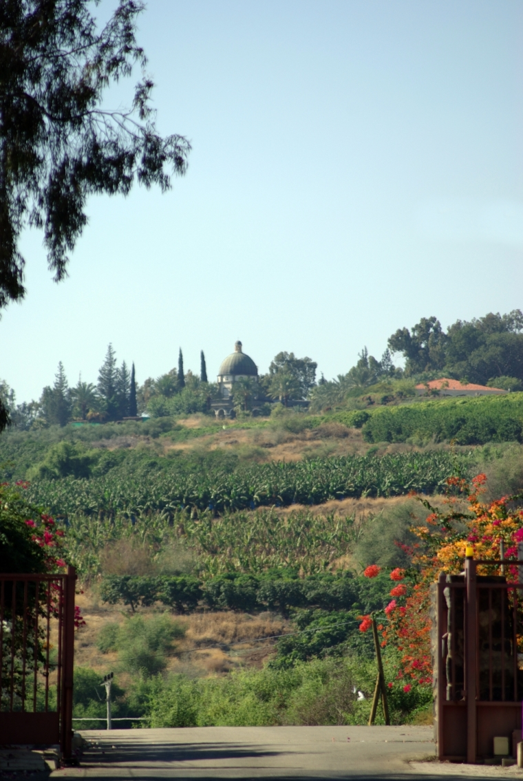 Mount of Beatitudes, seen from Capernaum