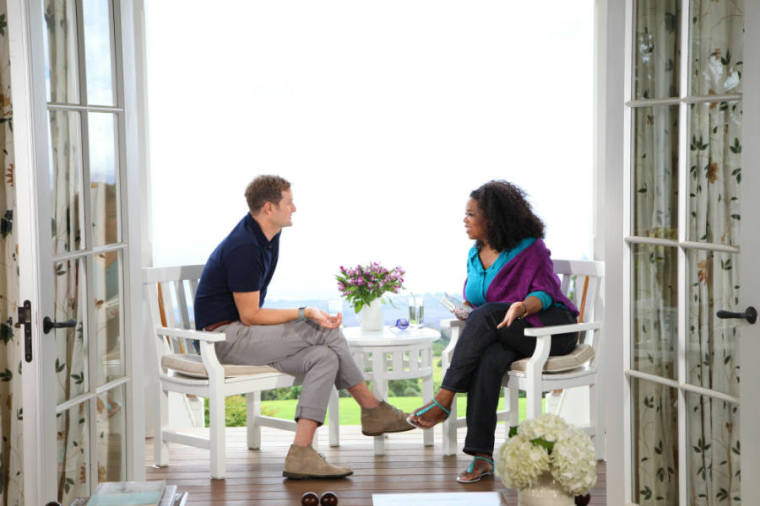 Rob Bell with Oprah Winfrey on 'Super Soul Sunday'