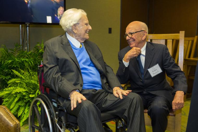 Billy Graham, Rupert Murdoch