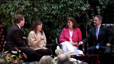 Reality TV stars Jimbob and Michelle Duggar join Beall and her husband, former Vision Forum President Doug Phillips, in 2010.