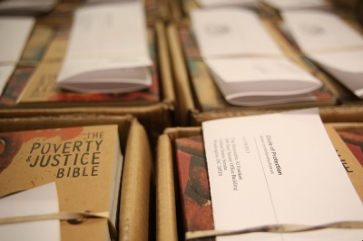 Following the government shutdown, the 535 members of Congress have received copies of the 'Poverty and Justice' Bible, a version that highlights the more than 2,000 times that those themes are mentioned in the text.