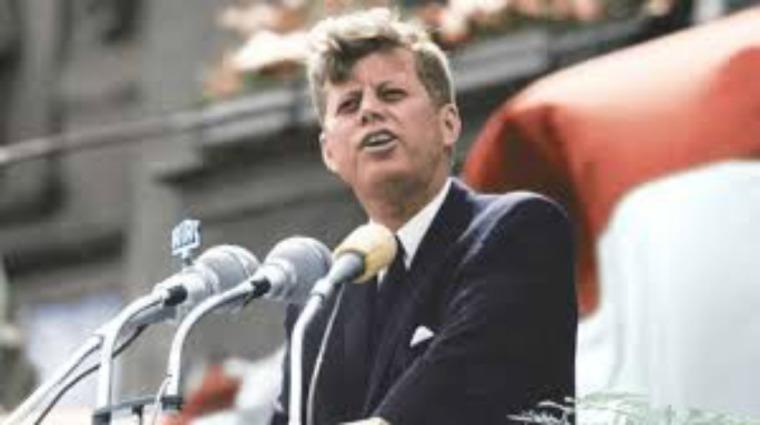 John F. Kennedy speaking