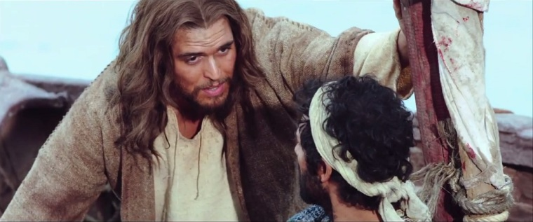 With footage from the 2013 'The Bible' miniseries, 'Son of God' is a standalone feature film about the life of Jesus, played by Diogo Morgado.