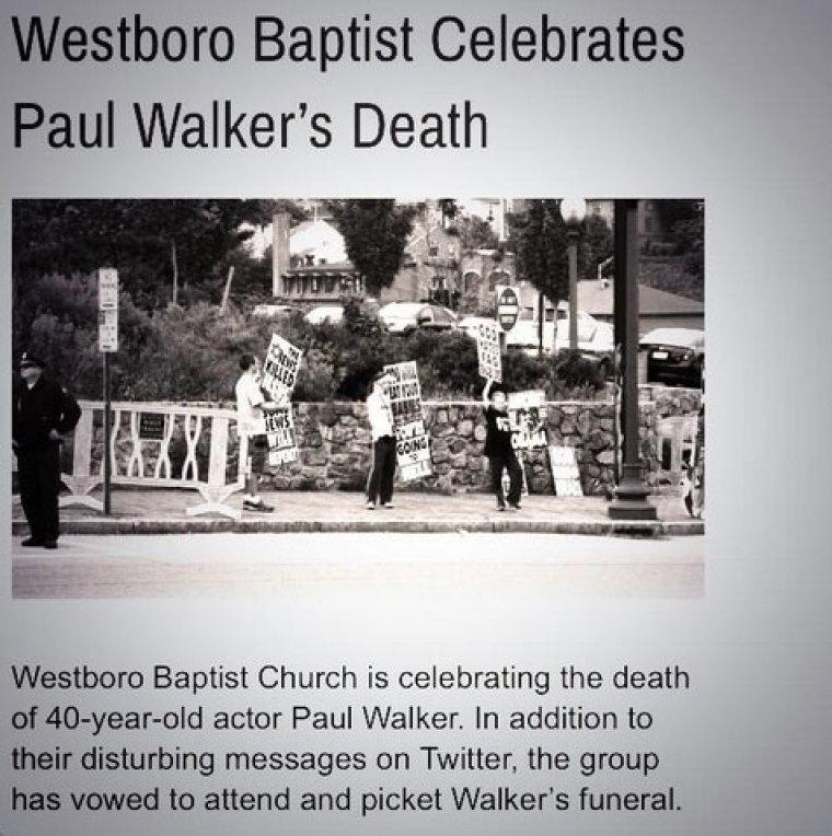 westboro paul walker